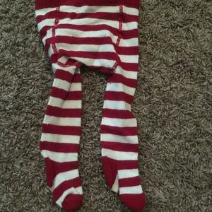 Other - Candy Cane Red and White Striped Tights